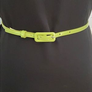 Lime Green Skinny Fashion Belt
